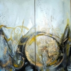 Andrea Ehret - diptych 100x100cm