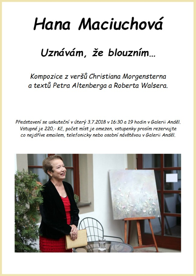 Hana Maciuchová - Uznávám, že blouzním