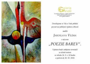 Výstava obrazů Jaroslava Vilíma, galerie Anděl, 2018