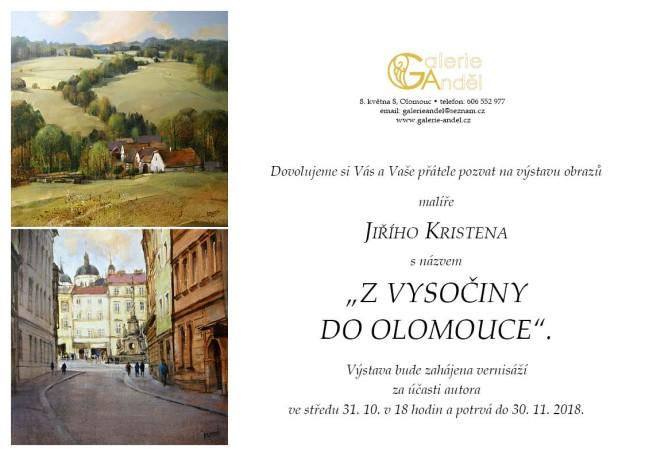 Jiří Kristen: Z Vysočiny do Olomouce, výstava Olomouc