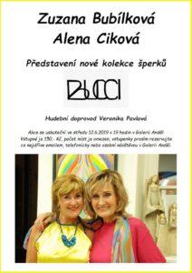 Kolekce šperků Bubílková, Ciková, Galerie Anděl Olomouc