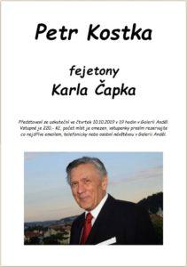 Petr Kostka, fejetony Karla Čapka