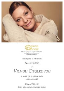 Na kus řeči s Vilmou Cibulkovou, Galerie Anděl Olomouc, září 2020